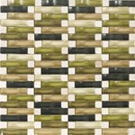 "Daltile Intertwine: Amp Blend 5/8"" x 2"" Glass Mosaic Tile F176-12BLENDMS1P"