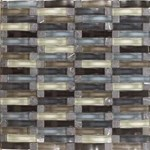 "Daltile Intertwine: Ocean 5/8"" x 2"" Glass Mosaic Tile F177-12BLENDMS1P"