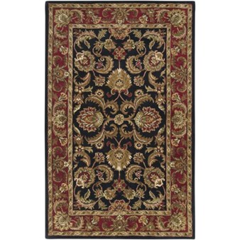 "Surya Ancient Treasures Jet Black (A-108) Rectangle 5'0"" x 8'0"""