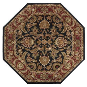 "Surya Ancient Treasures Jet Black (A-108) Octagon 8'0"" x 8'0"""