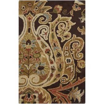 "Surya Ancient Treasures Coal Black (A-141) Rectangle 2'0"" x 3'0"""