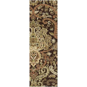 "Surya Ancient Treasures Coal Black (A-141) Rectangle 2'6"" x 8'0"""