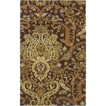 "Surya Ancient Treasures Coal Black (A-141) Rectangle 5'0"" x 8'0"""