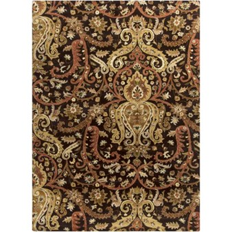 "Surya Ancient Treasures Coal Black (A-141) Rectangle 8'0"" x 11'0"""