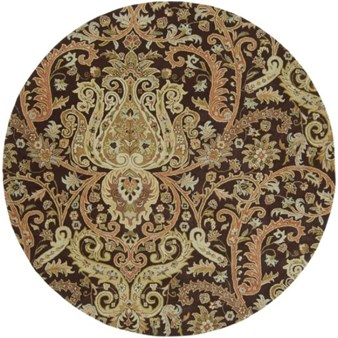 "Surya Ancient Treasures Coal Black (A-141) Round 8'0"" x 8'0"""