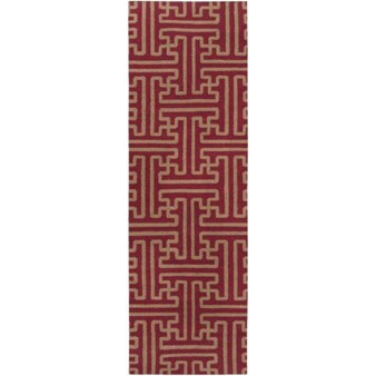 "Surya Smithsonian Archive Maroon (ACH-1701) Rectangle 2'6"" x 8'0"""