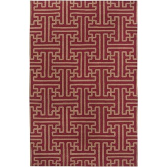 "Surya Smithsonian Archive Maroon (ACH-1701) Rectangle 5'0"" x 8'0"""