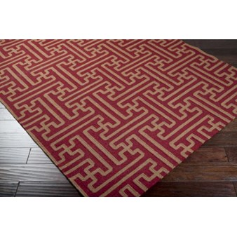 "Surya Smithsonian Archive Maroon (ACH-1701) Square 0'6"" x 0'6"""