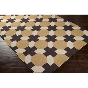 "Surya Smithsonian Archive Caramel (ACH-1716) Square 0'6"" x 0'6"""