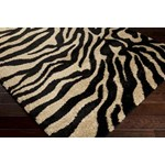"Surya Alfredo Jet Black (AFR-3325) Rectangle 2'0"" x 3'0"""
