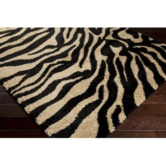 "Surya Alfredo Jet Black (AFR-3325) Rectangle 3'0"" x 5'0"""