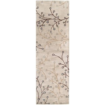 "Surya Athena Feather Gray (ATH-5008) Rectangle 2'6"" x 8'0"""