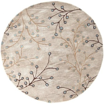 "Surya Athena Feather Gray (ATH-5008) Round 6'0"" x 6'0"""