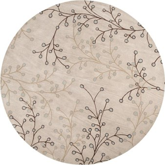 "Surya Athena Feather Gray (ATH-5008) Round 8'0"" x 8'0"""