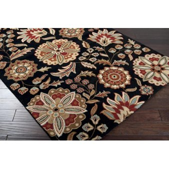 "Surya Athena Black Olive (ATH-5017) Rectangle 2'0"" x 3'0"""