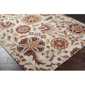 "Surya Athena Taupe (ATH-5035) Rectangle 6'0"" x 9'0"""