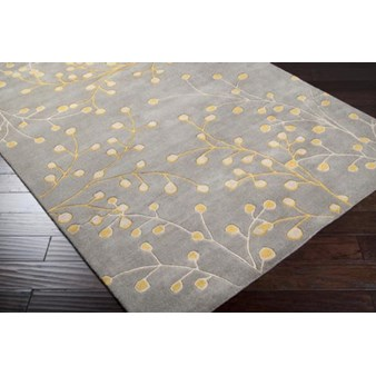 "Surya Athena Elephant Gray (ATH-5060) Rectangle 2'0"" x 3'0"""