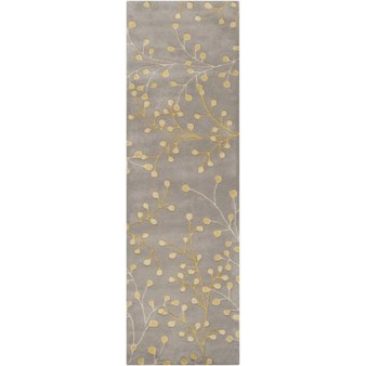 "Surya Athena Elephant Gray (ATH-5060) Rectangle 2'6"" x 8'0"""