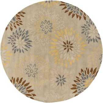 "Surya Athena Pussywillow Gray (ATH-5106) Round 8'0"" x 8'0"""