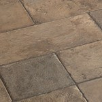 Faus Floor Masterpieces Collection: Cottage Slate Beige 10mm Laminate With Attached Pad F-369022