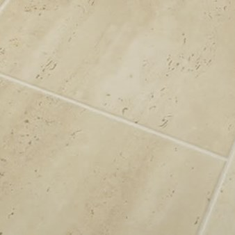 Faus Floor Masterpieces Collection: Roman Travertine Beige 10mm Laminate With Attached Pad F-706281