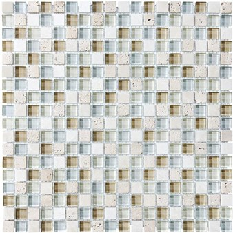 "Anatolia Bliss Glass Stone Blend Mosaic 5/8"" x 5/8"" : Spa 35-001"