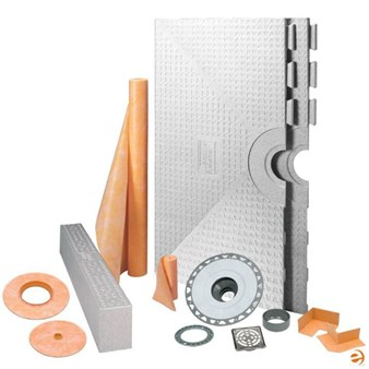 "Schluter Kerdi Shower System Kit - 32"" x 60"" Tray - Center Drain Placement KK81152-KIT"