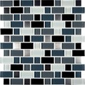 "MS International Crystal Cove Glass Metal Blend Mosaic 12"" x 12"" : THDWG-GLMT-CCB-8MM"