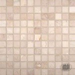 "MS International Crema Marfil Marble Mosaic 12"" x 12"" : SMOT-CREM-1X1-T"