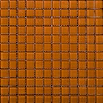 "Emser Lucente Solids Glass Mosaic 12.5"" x 12.5"" : Cinnamon"