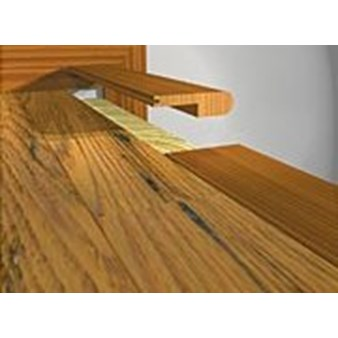 "Prefinished White Oak Stair Nose (honey oak) - 78"" Long"