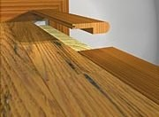 ... Wicanders Cork Flooring Maintenance By Prefinished Red Oak Stair Nose  Natural 78 Quot Long ...