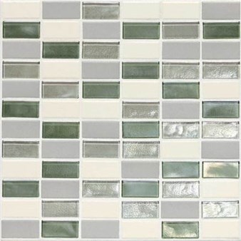 "Daltile Coastal Keystone Straight-Joint Mosaic 12"" x 12"" : Caribbean Palm Blend CK87 21PM1P"