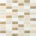 "Daltile Coastal Keystone Straight-Joint Mosaic 12"" x 12"" : Coconut Beach Blend CK85 21PM1P"