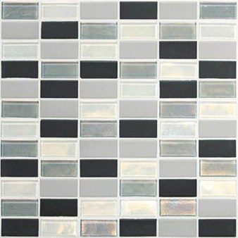 "Daltile Coastal Keystone Straight-Joint Mosaic 12"" x 12"" : Tropical Thunder Blend CK88 21PM1P"