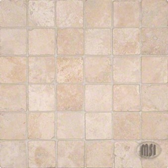 "MS International Durango Cream Travertine Mosaic 12"" x 12"" : SMOT-DUR-2X2T"