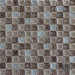 "MS International Fossil Canyon Glass Mosaic 12"" x 12"" : SMOT-GLSGG-FC8MM"