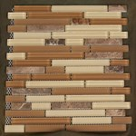 "Glass Tile & Stone Stone Brick Series Mosaic 12"" x 12"" : AL715"