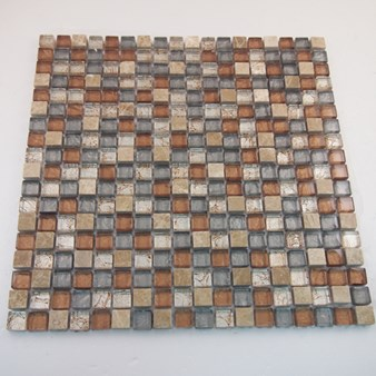 "Glass Tile & Stone Stone Material Series Mosaic 12"" x 12"" : AL610"