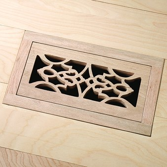 "Unfinished Oak Flush Mount 4"" x 10"" Vent"