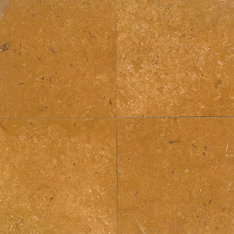 "Daltile Limestone: Inca Gold Honed 18"" x 18"" Natural Stone Tile L219-1818121U"