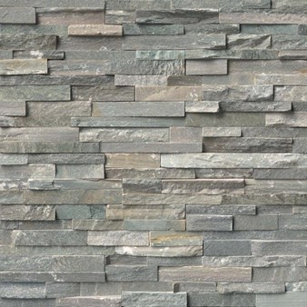 "MS International Sierra Blue Ledger Panel 6"" x 24"" Natural Slate Wall Tile : LPNLQSIEBLU624"