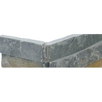 "MS International Golden Rush Ledger Corner 6"" x 6"" Natural Slate Wall Tile : LPNLSGLDRUS624COR"