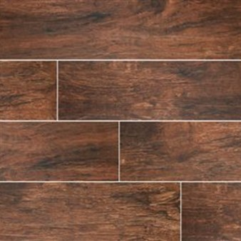 "MS International Ink Jet Wood Series: Redwood Mahogany 6"" x 24"" Porcelain Tile NREDWMAH6X24"