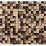 "Marazzi Crystal Stone: Coffee 12"" x 12"" Glass Tile LG4E"