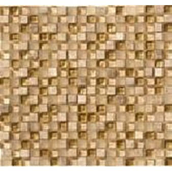 "Marazzi Crystal Stone: Gold 12"" x 12"" Glass Tile LG4J"
