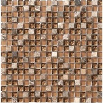 "Marazzi Crystal Stone: Walnut 12"" x 12"" Glass Tile LG4F"