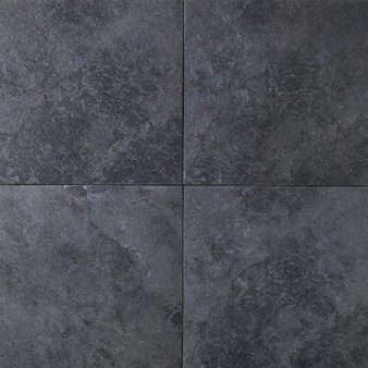 "Daltile Continental Slate: Asian Black 6"" x 12"" Porcelain Tile Cove Base"