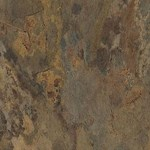 "Armstrong Natural Creations EarthCuts: Haven Stone Rust Brown 12"" x 12"" Luxury Vinyl Tile TP510  <font color=#e4382e> Clearance Pricing! Only 135 SF Remaining! </font>"