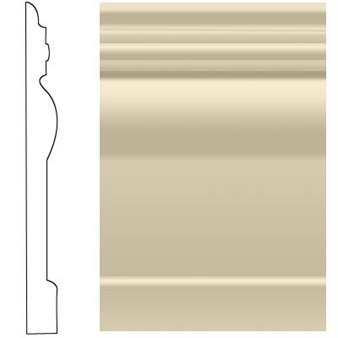 "Roppe Visuelle Rubber Wall Base: Almond 184 - 4 1/2"" x 120' Roll"